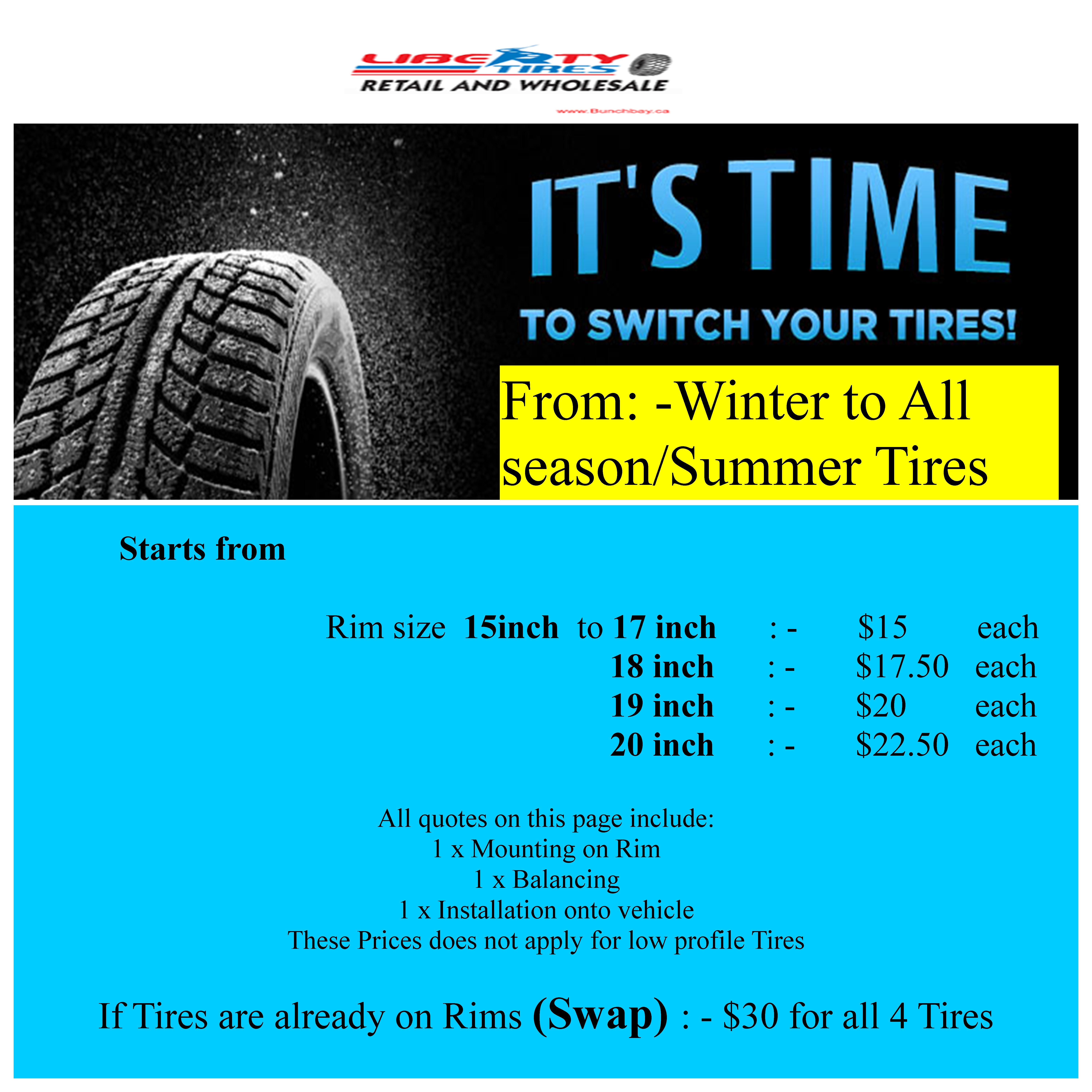 Tire Quotes Liberty Tires  Mississauga On Tires And Tire Services And Wheels